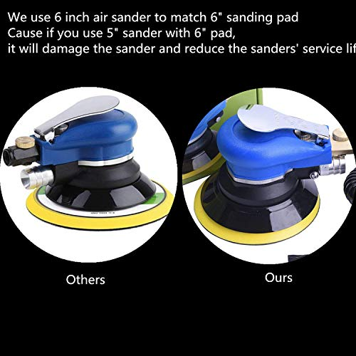 Professional Orbital Sander 5'' Dual Action Palm Sander for Auto Body Work, Hook and Loop Vacuum System by ZHONG AN (Image #5)