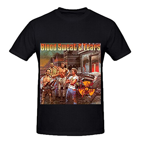 Tropic Blue Monogram - Blood Sweat Nuclear Blues 80s Men Round Neck Graphic Shirts Black