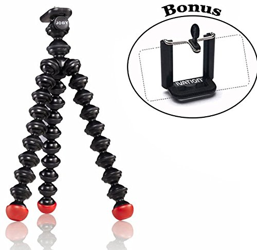 Joby Magnetic Tripod with Universal Smartphone Tripod Mount Adapter for Point and Shoot, Compact System Cameras, Action Cameras and Smartphones (Gorilla Pod Action Tripod)