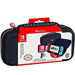 Protect and organize your Nintendo Switch in this Officially Nintendo Licensed Deluxe Travel Case. RDS Industries has manufactured this case to Nintendo's stringent and high standards. This Nintendo Switch case has a durable hard-shell...