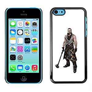 GOODTHINGS Funda Imagen Diseño Carcasa Tapa Trasera Negro Cover Skin Case para Apple Iphone 5C - guerrero martillo hombre músculos arte masculino