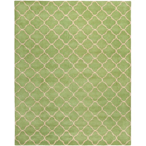 """Safavieh Chatham Collection CHT935B Handmade Green Wool Area Rug, 8 feet 9 inches by 12 feet (8'9"""" x 12')"""