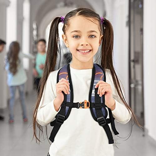 ブルーライトサンタクロース幼児バックパックブックバッグミニショルダーバッグ1-6年旅行男の子女の子子供用チェストストラップホイッスル