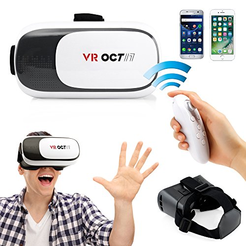 - Oct17 VR 2.0 2nd Gen Virtual Reality 3D Glasses Goggle Headset with Bluetooth control remote For IOS Android Iphone 6 plus Samsung Galaxy
