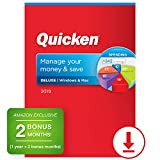 Quicken Deluxe 2019 Personal Finance & Budgeting Software [PC/Mac Download] 1-Year Subscription + 2 Bonus Months [Amazon Exclusive]