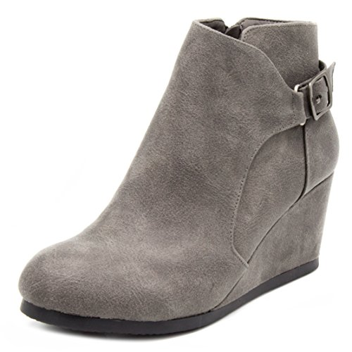 Pictures of London Fog Womens Martha Wedged Ankle Bootie 2