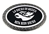 Super Hecho en Mexico Flag Belt Buckle Mexican Country Bottle Opener Silver New