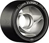 Rollerbones Turbo Speed/Derby Clear Aluminum hub Set of 8 Rollerskate Wheels