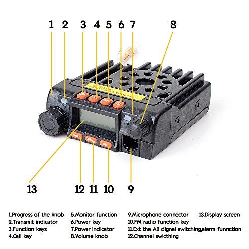 [해외]Juentai JT-6188 듀얼 밴드 VHF UHF 136-174 400-480MHz VHF 25Watt UHF 20Watts 듀얼 밴드 양방향 라디오 모바일 트랜시버 워키 토키 프로그래밍 포함/Juentai JT-6188 Dual Band VHF UHF 136-174 400-480MHz VHF 25Watt UHF 20Watts Dual Band Two...