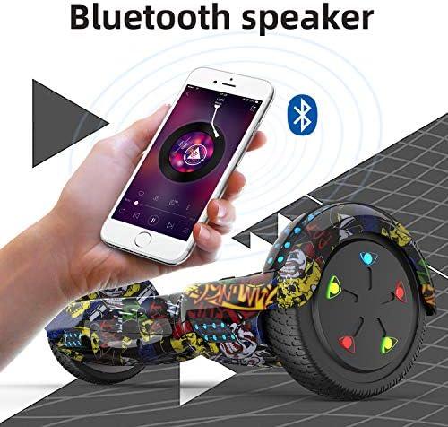 MARKBOARD Hoverboards Overboard + Hoverkart Gyropode Hover Scooter Board 6.5 Pouces avec Bluetooth, Roue Flashée Colorée Balance Board Électrique Auto-équilibrage