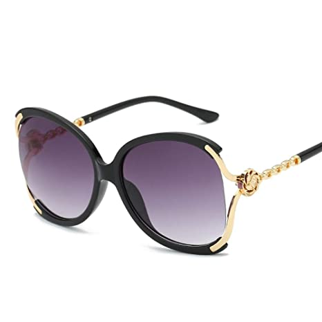 Yangjing-hl Gafas de Sol de Mujer Flores Gafas de Sol Retro ...