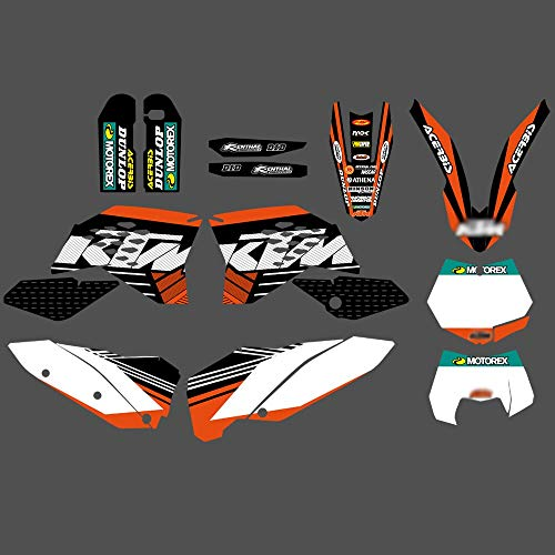 ABRAMOV DMITRY - TEAM GRAPHIC WITH MATCHING BACKGROUND STICKER DECALS FOR KTM SX SXF FULL SIZE MODEL 2007-2010 EXC XC FULL SIZE MODEL 2008-2011