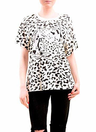 Wildfox Mujer Cheeta Babe Leaopard Top Tee Alabastro