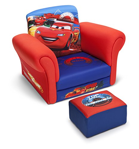 Delta Children Upholstered Chair with Ottoman, Disney/Pixar Cars (Chair With Ottoman Upholstered)