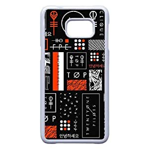 Veinte Uno Símbolos Pilotos Significado M9O80N1PV funda Samsung Galaxy S6 Edge Plus caso funda W73778 blanco