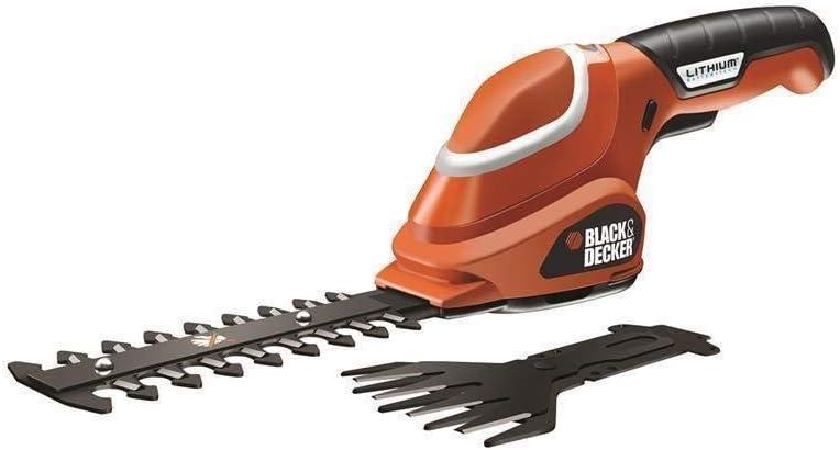 BLACK+DECKER GSL700-QW - Kit tijera cortacésped y arreglasetos 7 V, 1.2 Ah