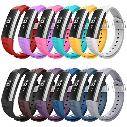LEEFOX Compatible for Fitbit Alta Band, Accessories Band for Fit Bit Alta and Alta HR/Ace Wristband Replacement Strap for Original Fitbit Alta/Fitbit Alta HR, 12 Pack Large