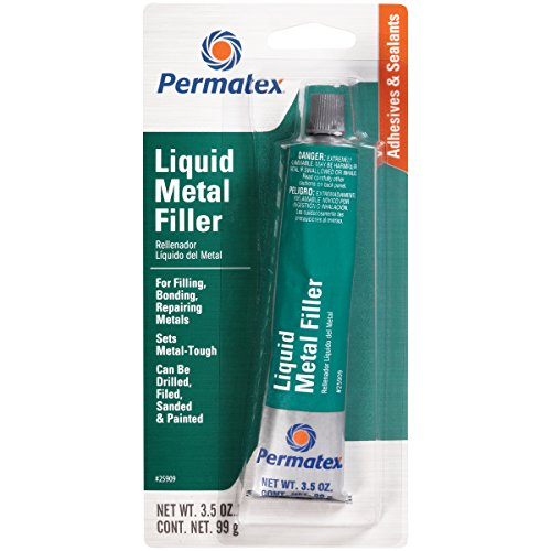 Permatex 25909 Liquid Metal Filler, 3.5 oz.