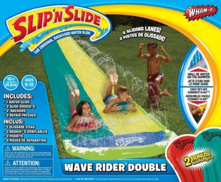 Wham-O Slip 64120 N Slide Wave Rider Double With 2 Slide Boogies