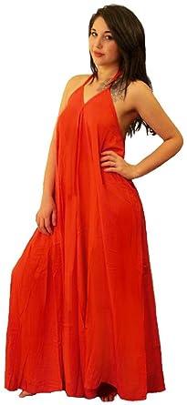 5782da3c8aff Amazon.com  LOTUSTRADERS Halter Jumpsuit Pantsuit Culottes U495  Clothing