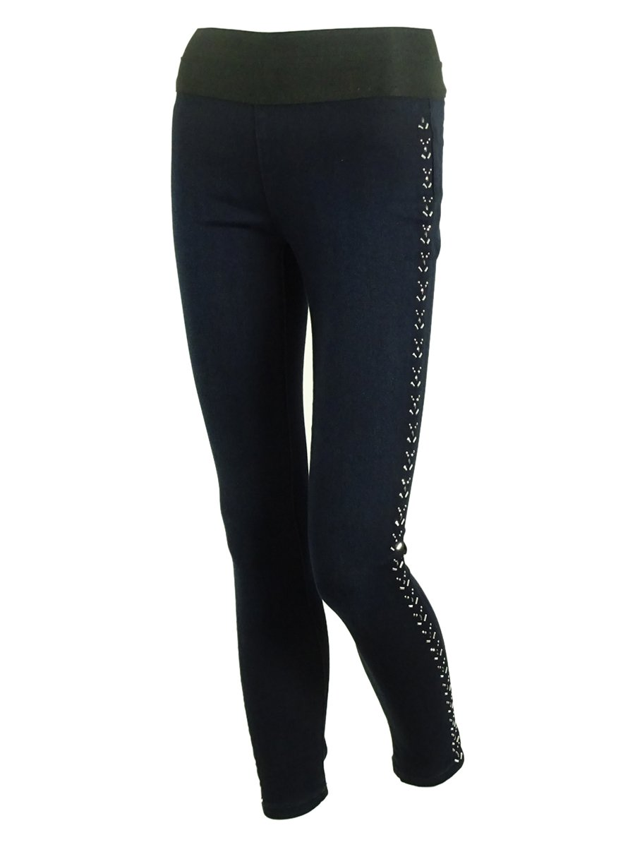 Style & Co. Women's Studded Mid Rise Jeggings (PS, Jewel)