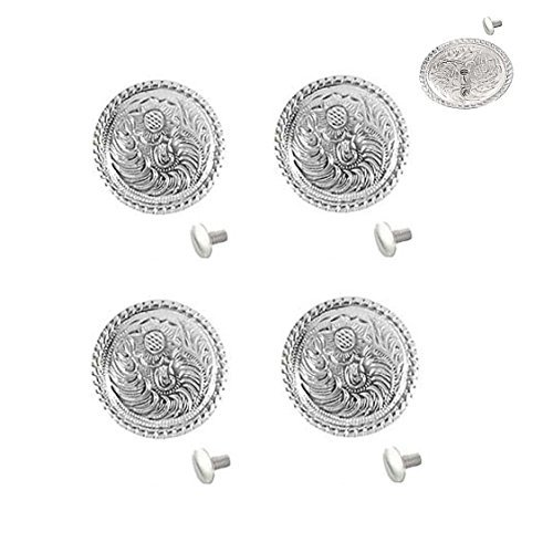 """Set of 4, 1"""" Western Bright Engraved Concho W/ 1/4"""" for sale  Delivered anywhere in USA"""