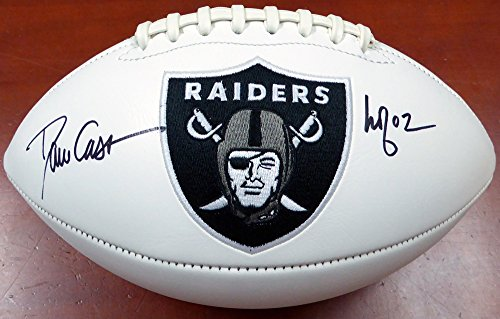 Dave Casper Autographed Oakland Raiders White Logo Football