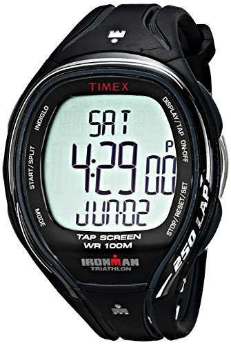 Timex Men's T5K588 Ironman Sleek 250 TapScreen Full-Size Black Resin Strap Watch