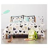 New Hello Hearts Comforter Set Black&White Pillowfort™ TWIN