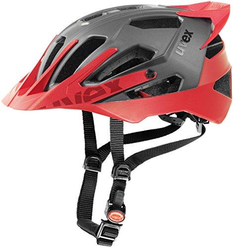 (Uvex Quatro Pro Helmet Dark Silver/Matte Red S/M (52-57cm))