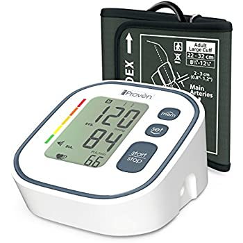 Digital Automatic Blood Pressure Monitor - Upper Arm Cuff - Large Screen Display - Clinically Accurate & Fast Reading - FDA Approved - BPM-634 by iProvèn