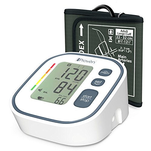 Automatic Digital Arm (Digital Automatic Blood Pressure Monitor - Upper Arm Cuff - Large Screen Display - Clinically Accurate & Fast Reading - FDA Approved - BPM-634 by iProvèn)