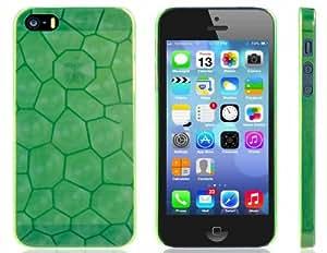 Water Cube Imprimir la caja plástica ultra delgada para iPhone 5S / 5 (verde)