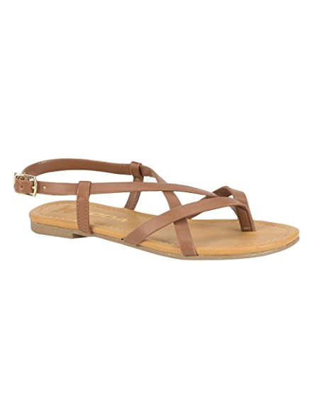 7d6f51722 Image Unavailable. Image not available for. Color  SODA Criss Cross Girls  Thong Sandals