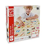 Hape Cross Out  Kid's Wooden Sorting and Learning Game