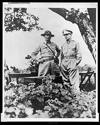 1943 Photo Guiding genius of Bataan was General Douglas MacArthur (right) shown here with Major General Jonathan Wainwright, who assumed command when MacArthur was ordered to ()