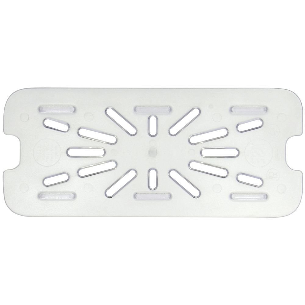 HUBERT 1/3 Size Clear Polycarbonate Drain Shelf for Cold Food Pan