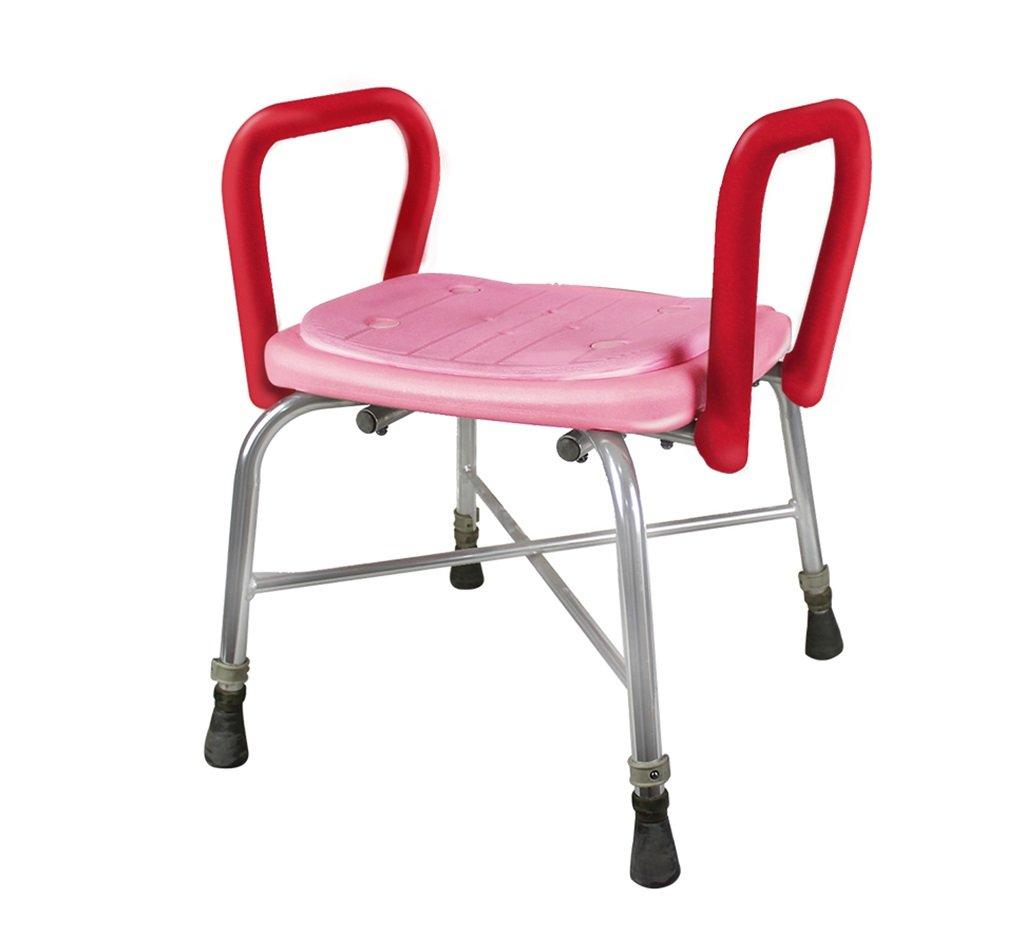 Duschstuhl DH® Anti-Rutsch-Bad Hocker Alter Pflegestuhl Patio Stuhl Aluminium (Pulver)