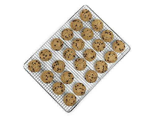 "Goson Bakeware Cooling Baking Racks, 1/2 Size 12"" by 17"", Cross Wire Rack, Baking Pan Baking Sheet Friendly, Anti-Rust Chrome."