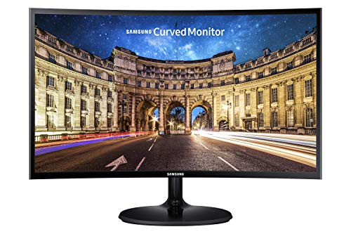 Samsung CF390 Series 27 inch FHD 1920x1080 Curved Desktop Monitor for Business, HDMI, VGA, VESA mountable, 3-Year Warranty, TAA (C27F390FHN)