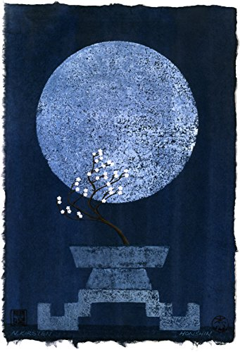 OFFERING TO THE RENEWAL OF THE SPRING FULL MOON. Direct from the artist, Limited Edition, Signed & Numbered by the Artist [ Off-Set Litho Print ]