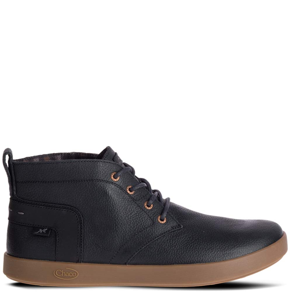 Chaco Men's Davis Mid Leather Lace Up Boot, Black, 9.5 M US by Chaco