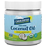 Carrington Farms Gluten Free, Unrefined, Cold Pressed, Virgin Organic Coconut Oil, 14 oz. (Ounce), Coconut Oil For Skin & Hair Care, Cooking, Baking, & Smoothies