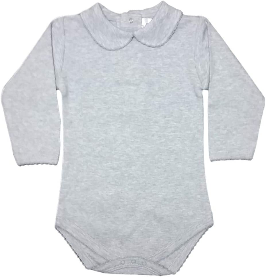 CARLINO Peter Pan Collared Bodysuit - Long Sleeve, Extra Soft, 6 Colors Available