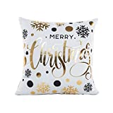 Decorative Pillow Cover - Hot Sale !Merry ChristmasPillow Case,Beautyvan Charming Happy Halloween Cute Lovely Linen Sofa Cushion Cover Home Decor ,Multiple Colors Available (B)