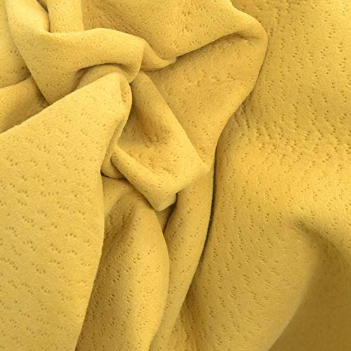 Leather Lamb Hide 7 Square Foot Lemony Whiskers 1-2 Ounces Embossed-4