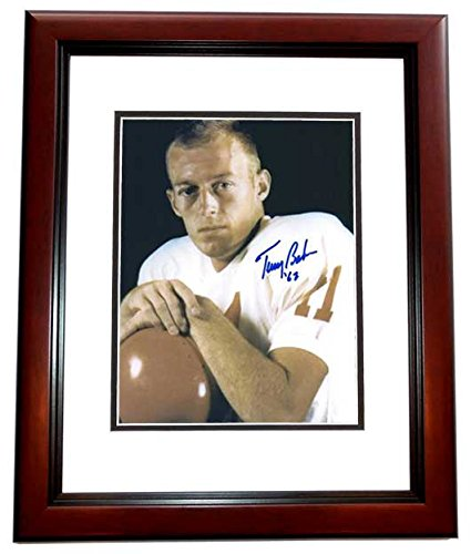 Terry Baker (Terry Baker Autographed - Hand Signed Oregon State 8x10 Photo MAHOGANY CUSTOM Frame - Guaranteed to pass PSA or JSA - 1962 Heisman Trophy Winner)