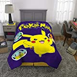 Franco Kids Bedding Super Soft Comforter, Twin Size 64' x 86', Pokemon Pikachu