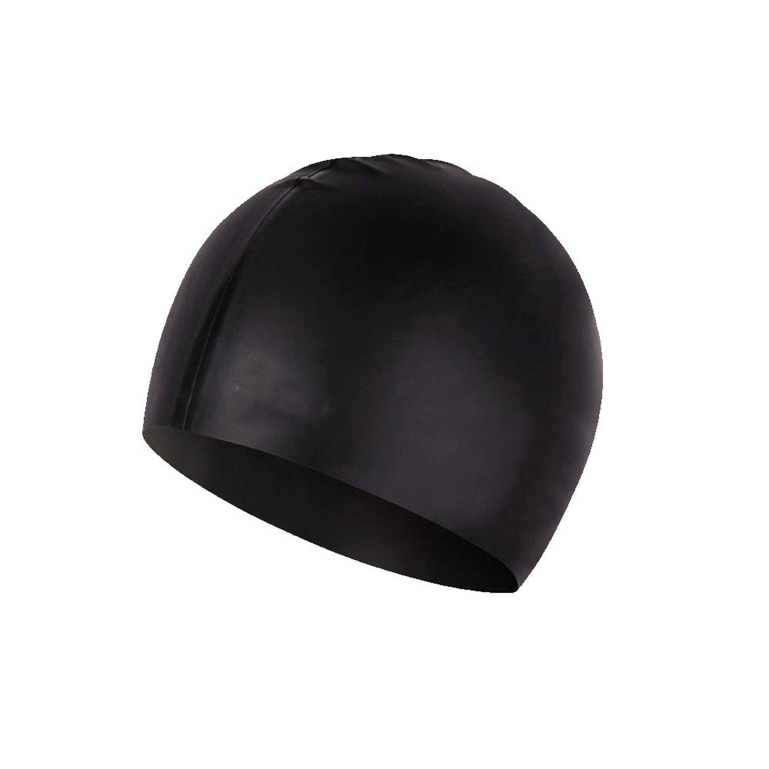 Summer Swimming Cap Waterproof Silica Gel Ear Protection Beach Swimming Hat Suitable for Adult Boys and Girls