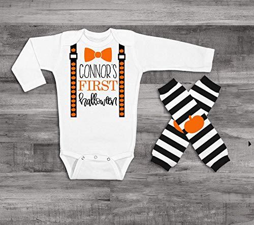 My 1st Halloween Baby Boy 1st Halloween Outfit Personalized Halloween Outfit Baby Boy Clothes Baby Boy Suspender -